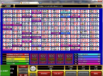 100 hand video poker atlantis online for free