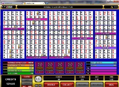 Double Joker 50 Play Power Poker