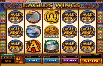 Eagles Wings Slot Game Microgaming