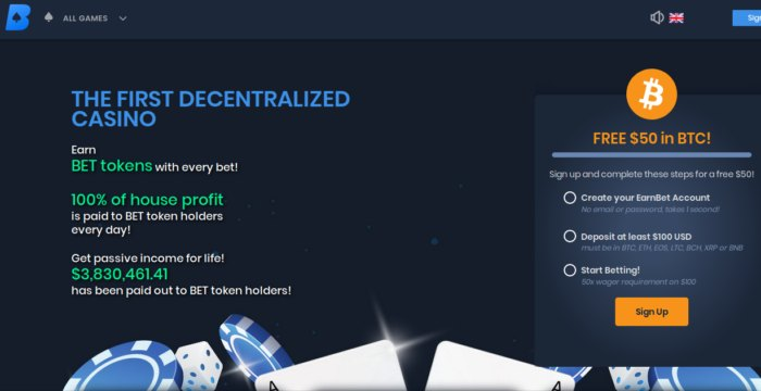 EarnBet Bitcoin Casino