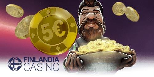 Finlandia Casino 5 € ilmaisbonus