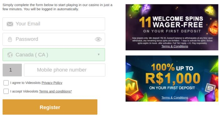 How to create an online casino account?