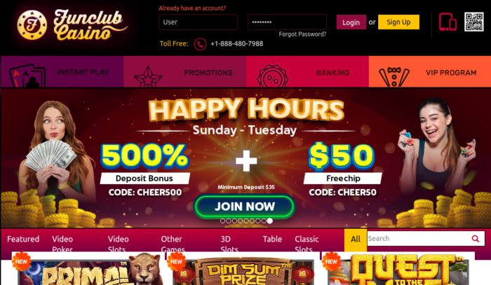 Funclub Casino review