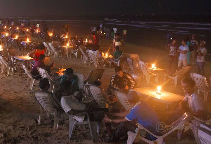 Goa India Nightlife Baga Beach