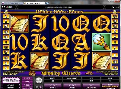 Golden Goose Winning Wizards Slot