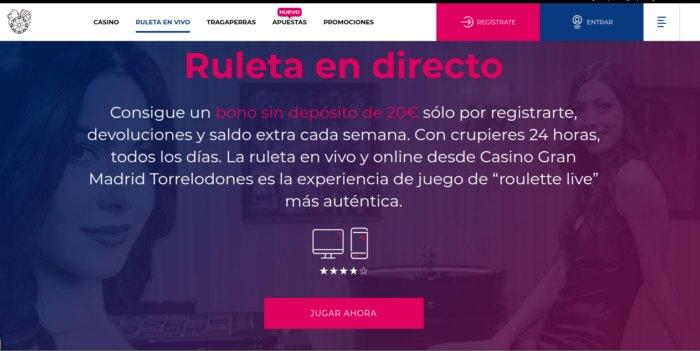 Gran Casino Madrid - jugar Ruleta en Vivo