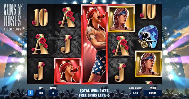 Guns N Roses slot machine game
