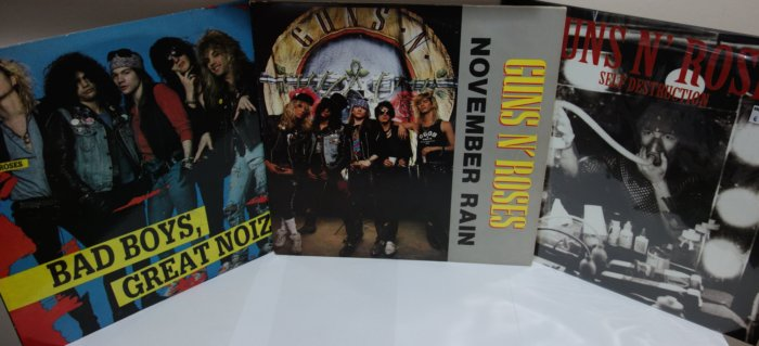Guns n Roses rare vinyl records bootlegs