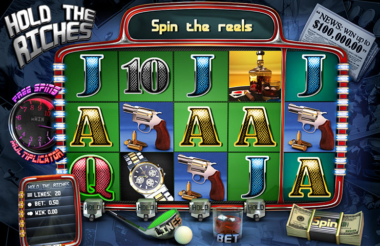 New slot machine at Slotland: Hold the Riches