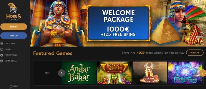 Horus Casino review