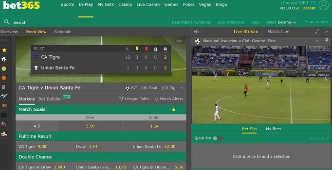 Bet365 soccer online betting free sports betting pick of the day sulphur