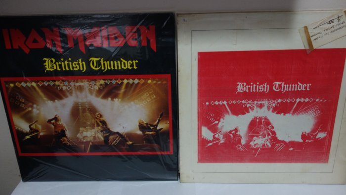Iron Maiden rare vinyl records bootlegs