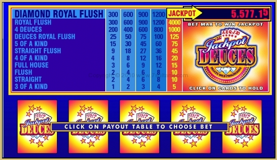 Jackpot Deuces Video Poker