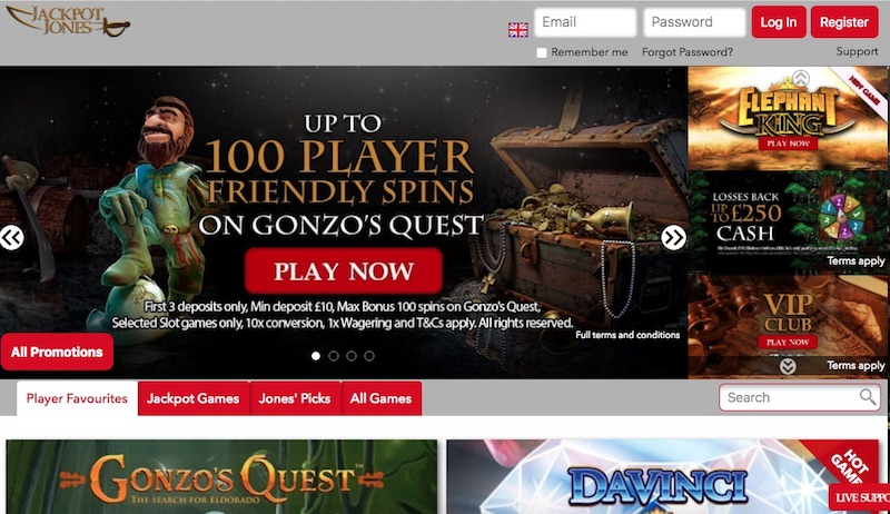 Jackpot Jones UK Casino Online Casino