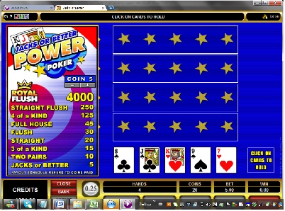 Jacks or Better 4 Hand Video Poker