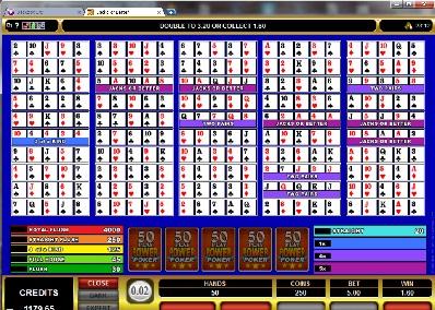 Jacks or Better 50 Play Power Poker