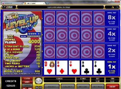 Jacks or Better Level Up Poker