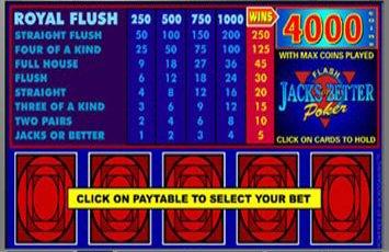 Jacks Or Better Power Poker Freeplay