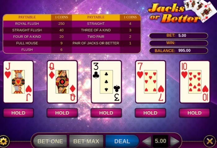 Jacks Or Better Video Poker Freeplay