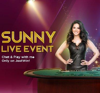 JeetWin India Casino Live Baccarat Sunny Leone