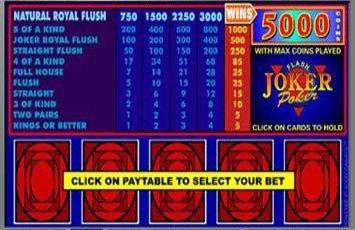 Joker Poker Freeplay Game