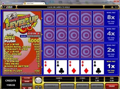 Joker Poker Level-Up Poker