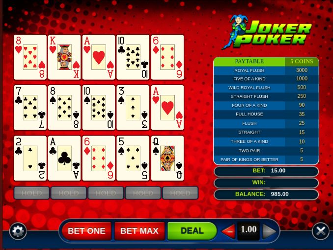Joker Poker Power Freeplay