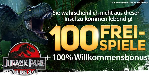 Jurassic Park Spielautomaten- 100 FREISPIELE - Deutschland casino spielen