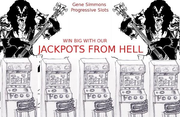 Kiss Gene Simmons Progressive Slot Machines