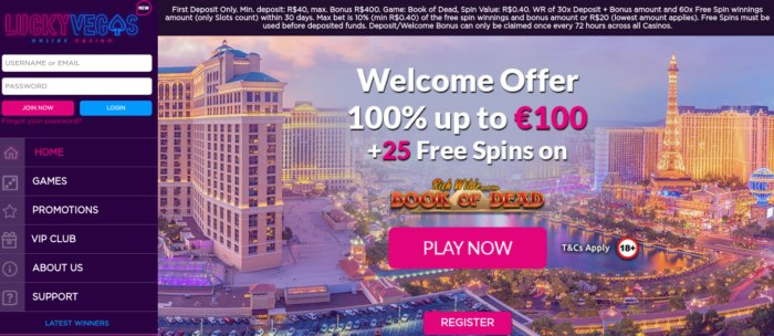 Lucky Vegas Casino review
