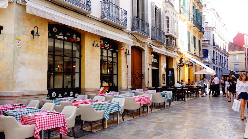 Restaurants in the Historic Center of Malaga
