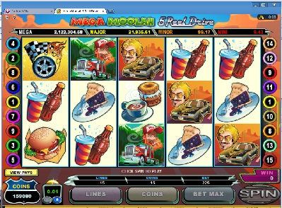 Mega Moolah 5 Reel Drive Slots