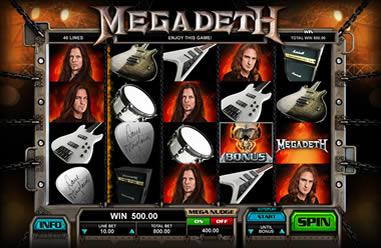 Megadeth - jogo de slot da banda Megadeth