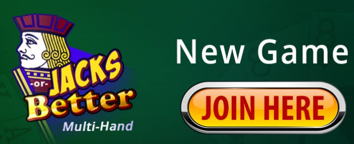 New Video Poker Game - Jacks Or Better Multi-Hand