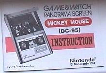 Nintendo Game Watch DC 95