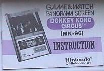 Nintendo Game Watch MK 96