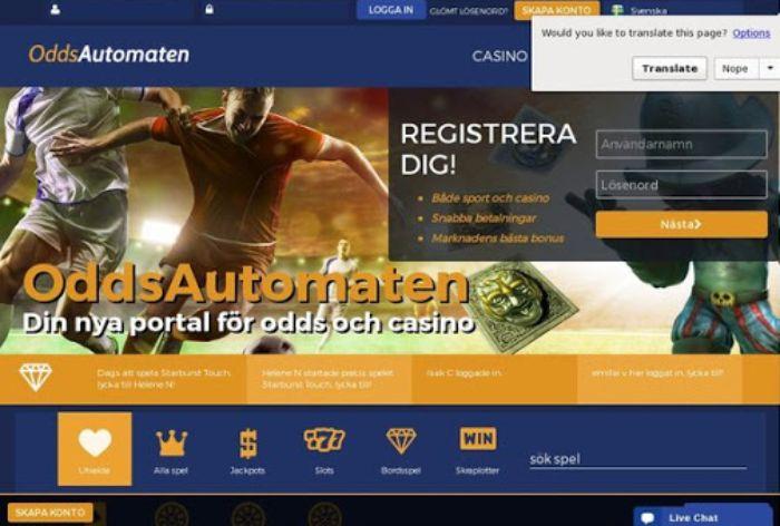 oddsautomaten Sverige Casino