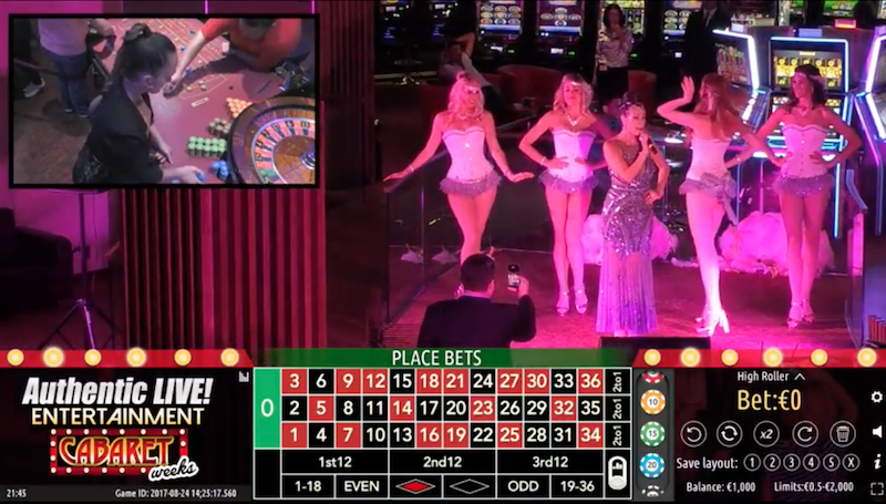 Play live Roulette watching a casino show