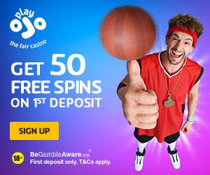 PlayOJO Casino 50 Free Spins