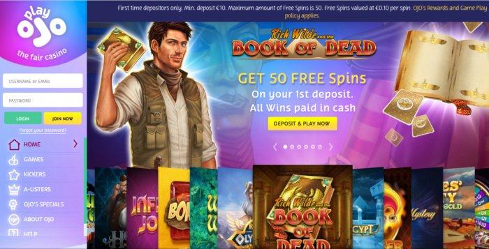 PlayOJO free spins