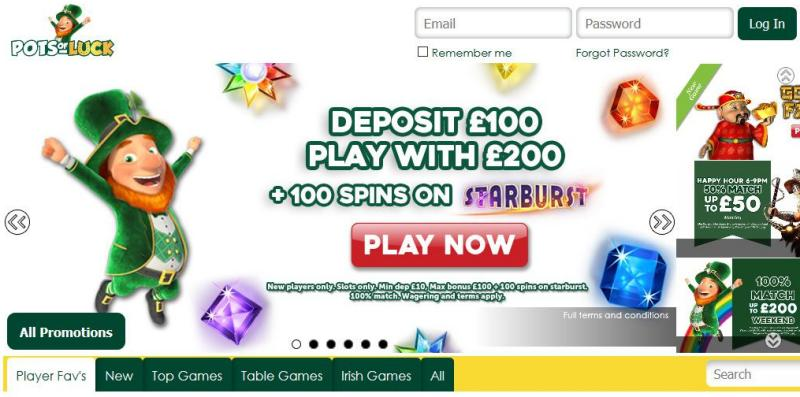 Pots of Luck UK online casino