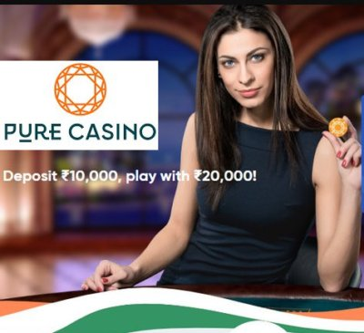 Pure Casino India: up to INR 10,000!