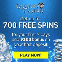 Quatro Casino Review - 700 Free Spins