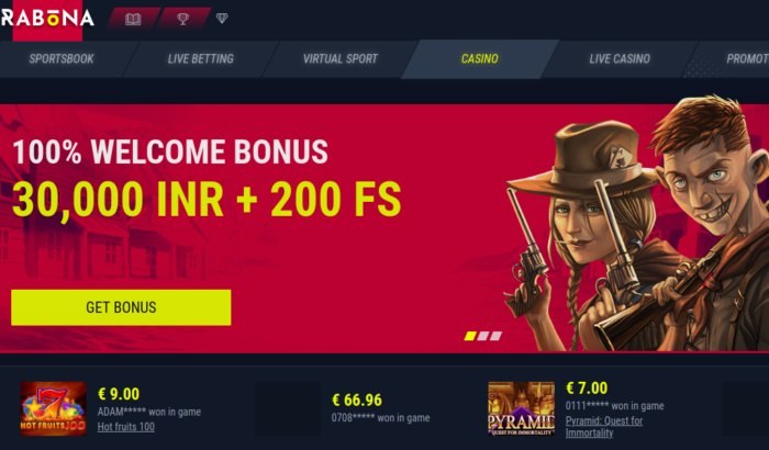 Rabona Casino India