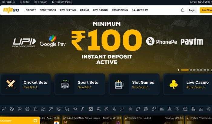 Rajabets India Review