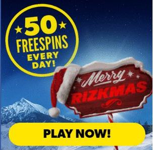 Rizk Casino promotion - 10 free spins daily