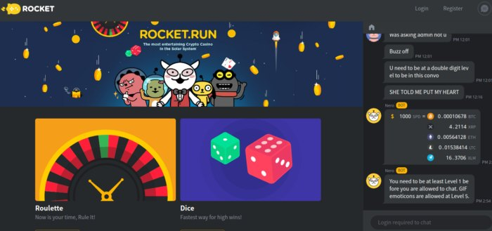 RocketRun Bitcoin Casino