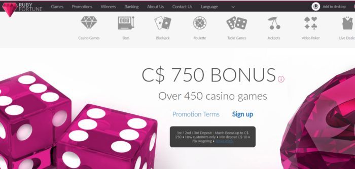 Ruby Fortune Casino Canada Nz Review