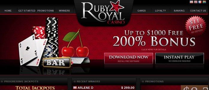 Ruby royal casino no deposit