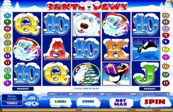Santa Paws Slot Game Microgaming